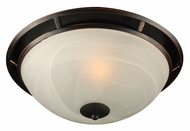 PLC 14884-ORB Compass Small Oil Rubbed Bronze Flush Mount Lighting Fixture