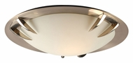 PLC 14892-SN Paralline Satin Nickel Flush Mount Ceiling Light - Small