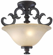 PLC 15250-ORB Lexington Semi-Flush Ceiling Light in Oil Rubbed Bronze