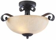 PLC 15276-ORB Somerset Semi-Flush Ceiling Lightin Oil Rubbed Bronze