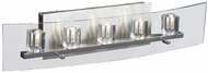 PLC 1534 Ice Cube 5 Light Clear Glass Contemporary Bathroom Light Fixture