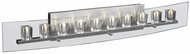 PLC 1536 Ice Cube 10 Light Clear Glass Contemporary Bathroom Light Fixture