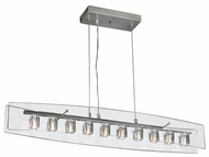 PLC 1538-SN Ice Cube 10-Light Glass Chandelier