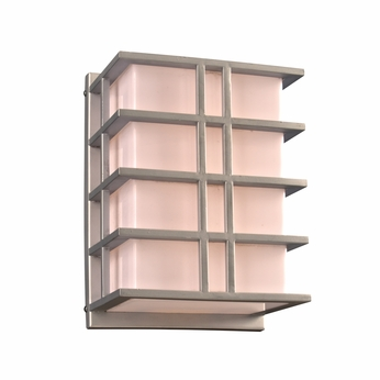 PLC 16646SL Amore Contemporary Silver Exterior Wall Sconce Lighting