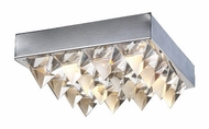 PLC 18169-PC Crysto Contemporary Flush-Mount Ceiling Light - 14 inches wide