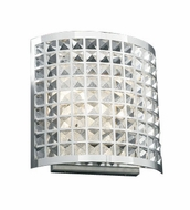PLC 18186 Jewel Contemporary Wall Sconce - 12 inches tall