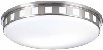PLC 1958SNLED Paxton Modern Satin Nickel LED Ceiling Light