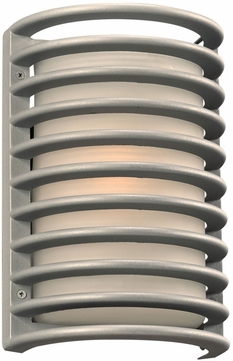 PLC 2038SLLED Sunset Modern Silver LED Exterior Wall Lamp