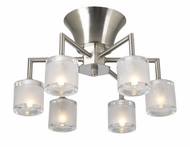 PLC 21084-SN Julius Contemporary Flush-Mount Ceiling Fixture