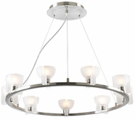 PLC 21124-SN Celtic Nine Light Circular Chandelier in Frost