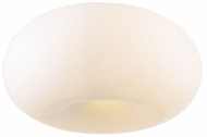 PLC 21145-SN Tessera Flushmount Ceiling Light with Matte Opal Glass