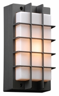 PLC 2119-BZ Lorca Bronze Grid Outdoor Sconce