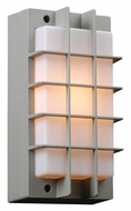 PLC 2119-SL Lorca Exterior Silver Grid Wall Lighting