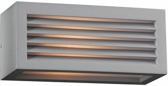 PLC 2242SLLED Madrid Contemporary Silver LED Outdoor Wall Light Fixture