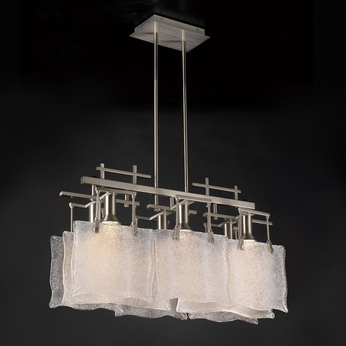 PLC 23035-SN Carilon Modern Island Lighting Fixture