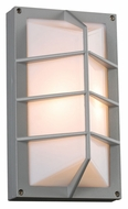 PLC 2400SL Expo Silver Outdoor Sconce With Fluorescent Option