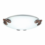 PLC 2816-PB Aroma Polished Brass Flush Ceiling Light Fixture