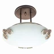 PLC 2818-PB Aroma Polished Brass Halogen Flush Mount Ceiling Light Fixture