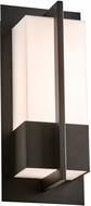 PLC 2902BK Brecon Modern Black LED Exterior Small Lighting Sconce