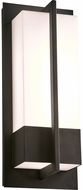 PLC 2904BK Brecon Contemporary Black LED Outdoor Medium Lamp Sconce