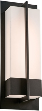 PLC 2906BK Brecon Modern Black LED Exterior Large Wall Sconce Lighting
