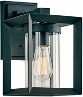 PLC 2911BK Sullivan Contemporary Black Outdoor Small Wall Light Fixture