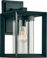 PLC 2913BK Sullivan Modern Black Exterior Medium Lighting Wall Sconce