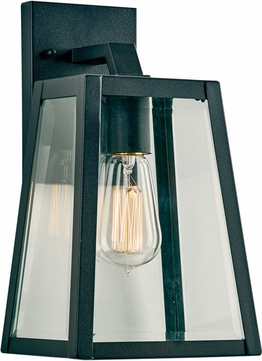 PLC 2920BK Park Avenue Contemporary Black Outdoor Small Wall Mounted Lamp