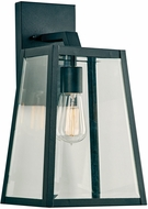 PLC 2922BK Park Avenue Modern Black Exterior Medium Wall Light Sconce