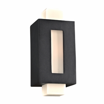 PLC 31630BK Pema Contemporary Black Outdoor Light Sconce