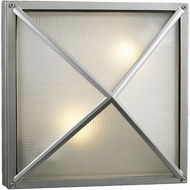PLC 31700SLLED Danza Modern Silver LED Outdoor Lighting Sconce