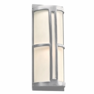 PLC 31736SL Rox Contemporary Silver Outdoor Wall Light Fixture