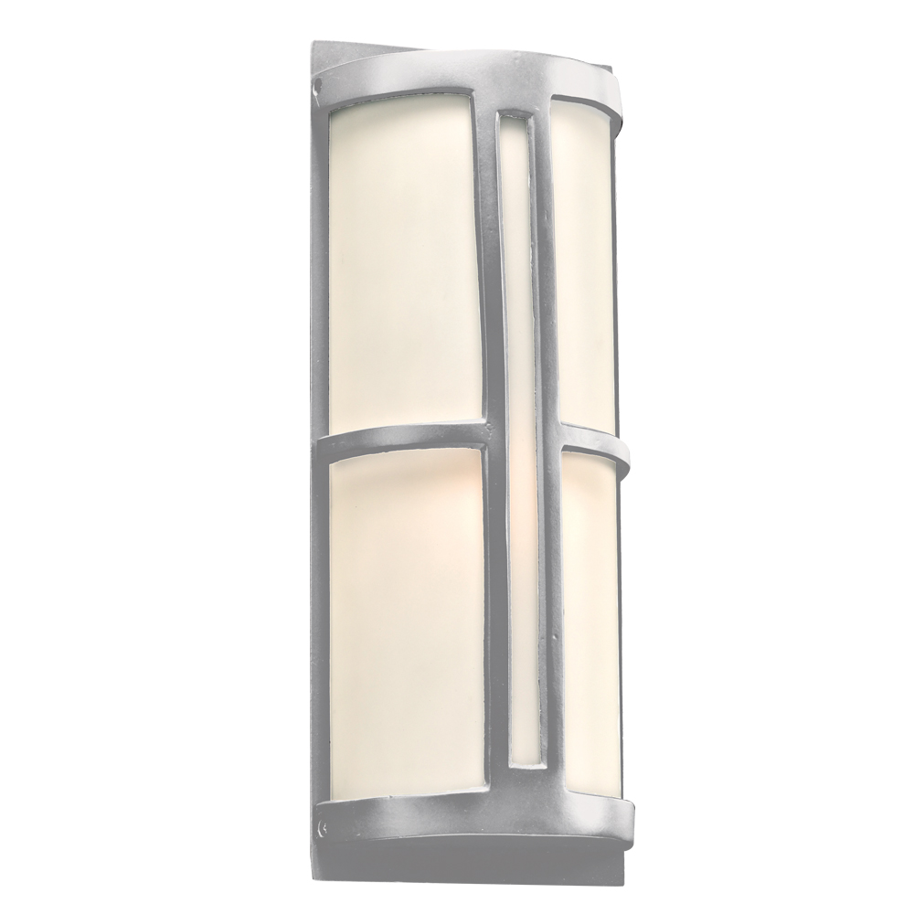 Plc 31736sl Rox Contemporary Silver Outdoor Wall Light Fixture Loading Zoom