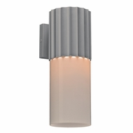 PLC 31740SL Wallyx Contemporary Silver Outdoor Wall Mounted Lamp