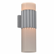 PLC 31742SL Wallyx Contemporary Silver Outdoor Wall Lighting Fixture