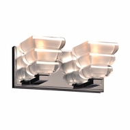 PLC 32052PC Titan Contemporary Polished Chrome 2-Light Bath Lighting Fixture