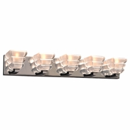 PLC 32055PC Titan Modern Polished Chrome 5-Light Bathroom Vanity Light