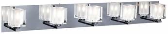 PLC 3485 Glacier 5 Light Contemporary Vanity Fixture in Polished Chrome