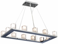 PLC 3488-PC Glacier 12-Light Chandelier in Chrome