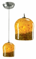 PLC 365-AMB Fuzio Low-Voltage Pendant Light with Amber Glass