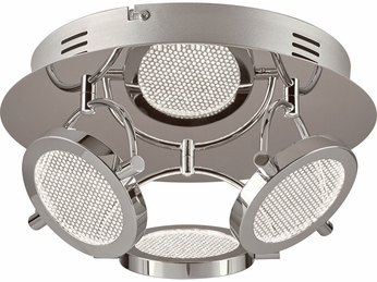 PLC 40006PC Ariella Contemporary Polished Chrome LED Ceiling Light Fixture