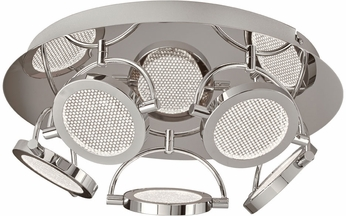 PLC 40007PC Ariella Modern Polished Chrome LED Ceiling Lighting Fixture