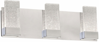 PLC 40013PC Farella Modern Polished Chrome LED 3-Light Bath Lighting