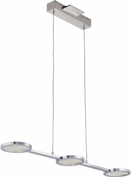 PLC 40033PC Ariella Modern Polished Chrome LED Island Lighting