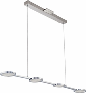 PLC 40034PC Ariella Contemporary Polished Chrome LED Kitchen Island Lighting