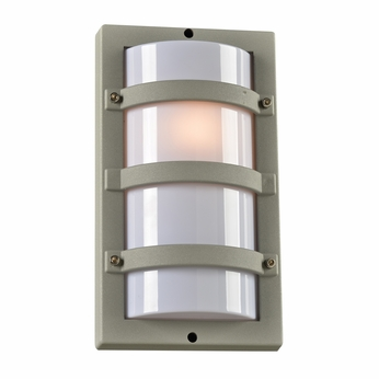PLC 4040SL Spa Modern Silver Exterior Wall Sconce Lighting