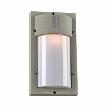 PLC 4042SL Jedi Modern Silver Exterior Lighting Wall Sconce