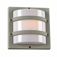 PLC 4044SL Spa Modern SIlver Exterior Wall Sconce Lighting