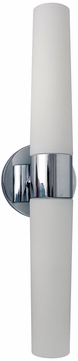 PLC 5042PC Trax Contemporary Polished Chrome Bath Sconce