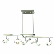 PLC 5356SN Focus Modern Satin Nickel Island Lighting
